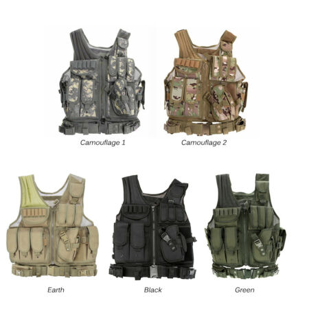 img-Outdoor Military Tactical Vest Army Polyester Airsoft War Game Hunting Vest Z8R9