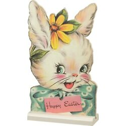Kyпить PBK Retro Vintage Style Easter Wood Stand-Up Happy Easter Bunny 8 in x 5 in на еВаy.соm