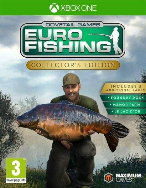 Bourdeau,FranceJeuEURO FISHING SIMULATOR - COLLECTOR'S XBOX ONE - NEUF SOUS BLISTER