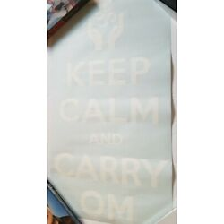 Design 583 Keep Calm and Carry on Picture Peel & Stick Sticker Vinyl Wall Decor