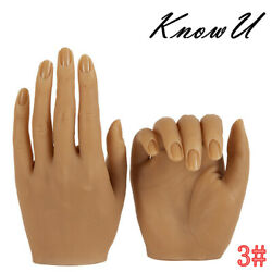 Kyпить 1pcs Silicone Practice Hand For Nails 1:1 Real Person Mold Mannequin Model на еВаy.соm