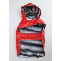 ASPCA Pet Apparel Red Hoodie Raincoat with Pocket Size S