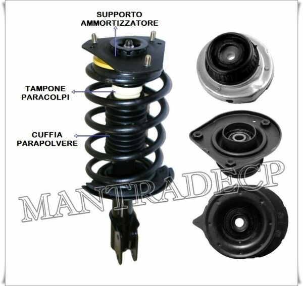 ItalieSupport Shock Absorber Pair Front Fiat Grande Punto OB51760 OE 50510134