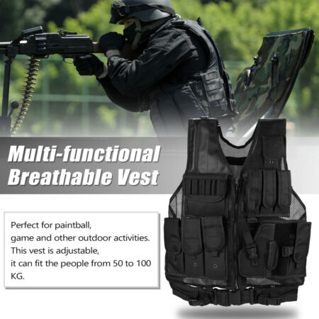 img-Military Tactical Vest CS Paintball Airsoft Hunting Outdoor Assault Pouches O4E7