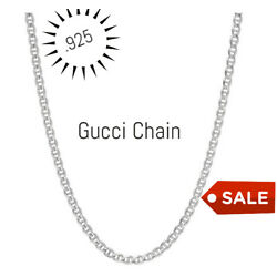 Kyпить REAL Italian Sterling Silver Gucci Link Chain Necklace на еВаy.соm