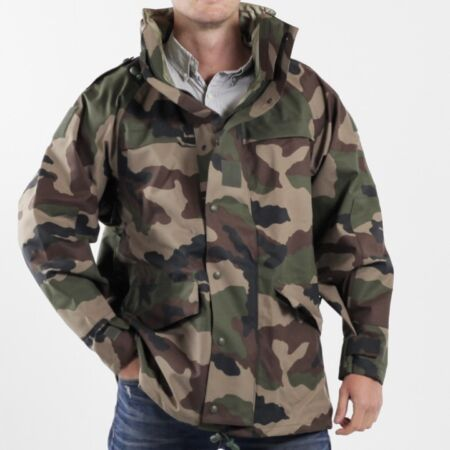 img-GRADE 1.FRENCH MVP JACKET WATERPROOF PARKA S M MILITARY CCE CAMOUFLAGE