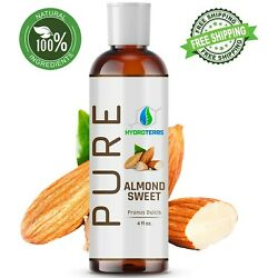 Kyпить Sweet Almond Oil 4 oz 100% Pure Organic Carrier For Skin, Face, Hair and Massage на еВаy.соm
