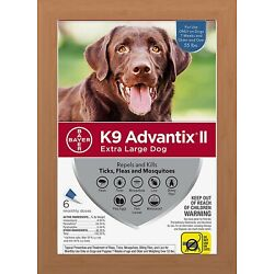 Kyпить K9 Advantix II Flea & Tick Treatment for Extra Large Dogs Over 55 lbs - 6 Pack на еВаy.соm