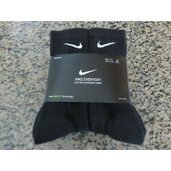 Kyпить NIKE Everyday Socks Cotton CREW DRI-FIT Training 3 pairs or 6 pairs Mens 8-12 на еВаy.соm