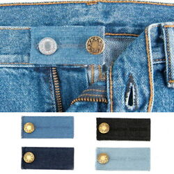 4/8PC Waist Band Extender Button Maternity Trousers Jeans Elastic Widen Expander