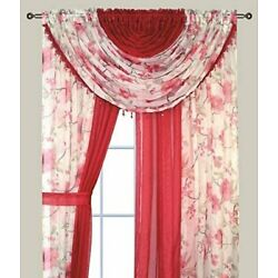 Kyпить Home Complete Window Sheer Curtain Panel Set With 4 Attached Panels and 2Valance на еВаy.соm