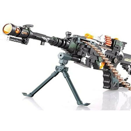 img-Combat 3 Army Commando Machine Real Rapid Gun Pistol With Lights And Sounds Kids