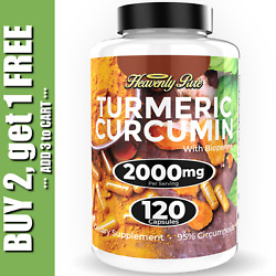 Kyпить Turmeric Curcumin 2000 mg High Absorption Extra Strength Vegan Capsules 120 Ct на еВаy.соm