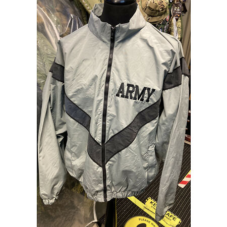 img-US Army PFU Reflective Grey Lightweight PT Water Repellent Wind Breaker Jackets