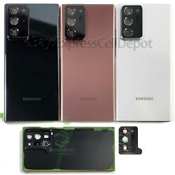 Kyпить For Samsung Galaxy Note 20 Ultra Replacement Back Glass+Camera Lens+IP68 Tape на еВаy.соm