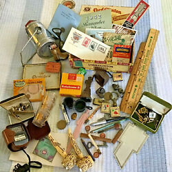 Kyпить Vintage GRANDPA Random Lot Junk Drawer Unique Collectibles Iceland Stamps SWANK на еВаy.соm