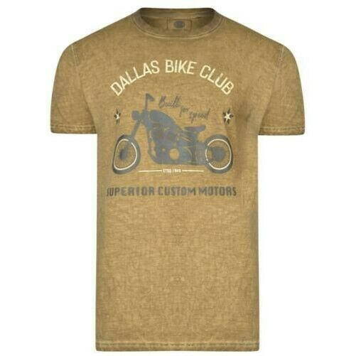 Royaume-UniKam Hommes Grand  Dallas Vélo Club T-Shirt (5316)