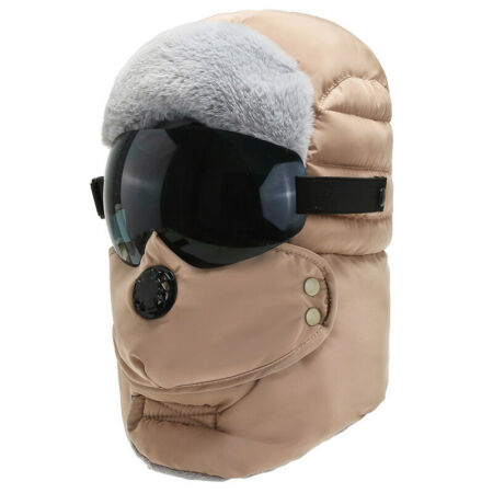 img-Unisex Winter Warm Hat Men Fur Ski Cap Trapper Hat With Face Cover Windproof