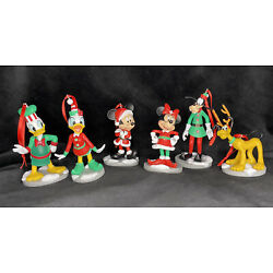 Kyпить Disney Mickey Mouse Christmas Holiday Collection Ornament Set Minnie Goofy Pluto на еВаy.соm
