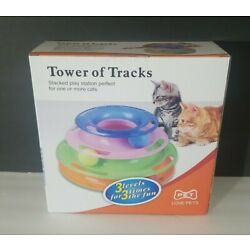 Petstages Cat Tracks Cat Toy - Fun Levels of Interactive Play - Tower of Tracks