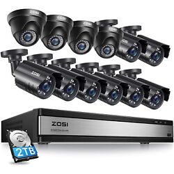 2 1080p HD CCTV Security Camera Outdoor Indoor 80ft Night Vision for DVR System