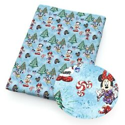 Kyпить MINNIE MOUSE DISNEY Christmas TREE 100% Cotton Fabric Material 19
