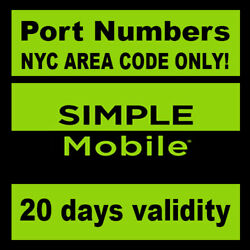 Kyпить Simple Mobile |Numbers to Port| NYC Area Code ONLY! | SIMPLE MOBILE NY area code на еВаy.соm