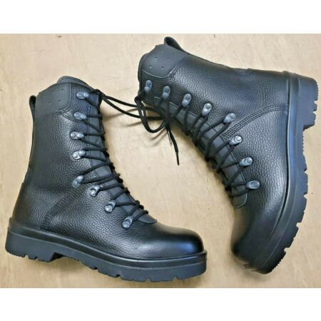 img-NEW Genuine German Army Issue Black Leather Para Paratrooper Combat Boots