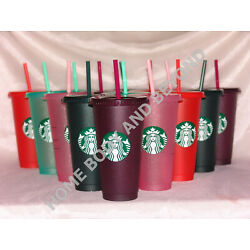 Kyпить STARBUCKS Sparkle Holiday Glitter Venti 24 Oz Cold Cup Tumbler You Choose Color на еВаy.соm
