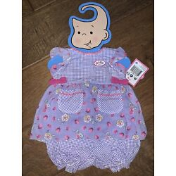Zapf Creations Baby Born Summer dress Doll Clothing Purple White Pink