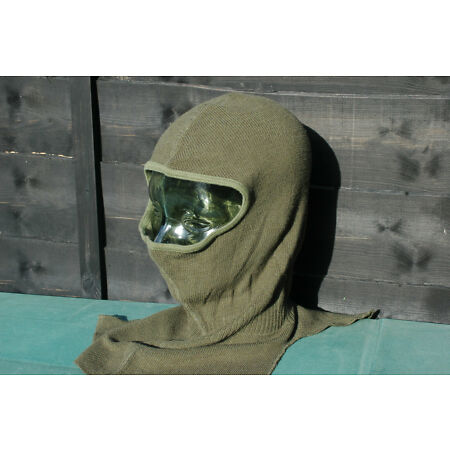 img-Belgian Army Used Issue Balaclava Green Armoured Fighting Vehicle hood
