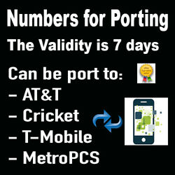 Kyпить Numbers for Porting /30 DAYS VALIDITY can be PORT to AT&T/Metro/Cricket/T-Mobile на еВаy.соm