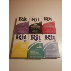 Kyпить LOT 6 New Rit Dye All-Purpose Concentrates Powder COLORS Blue Teal Purple Black на еВаy.соm