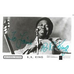 Kyпить B B KING - vintage autographed HAND SIGNED 3x5 b&w photo // RARE на еВаy.соm
