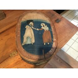 Kyпить Antique Primitive Painted Bentwood Brides Box/Spanschachteln 19thC European. на еВаy.соm