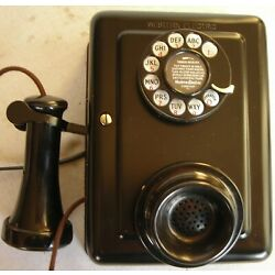 Kyпить WESTERN ELECTRIC EARLY DIAL METAL WALL RESTORED ANTIQUE TELEPHONE CIRCA 1920 на еВаy.соm