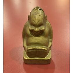 Kyпить Original Antique BILLIKEN GOOD LUCK Cast Iron Still Bank - A C Williams Co на еВаy.соm