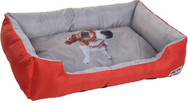 Royaume-UniGrand Chien Lit Animal de Compagnie 78cm X 55cm X 18cm Rectangle  Bleu &