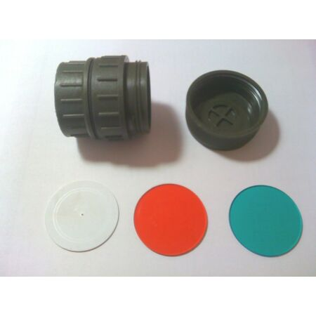 img-GENUINE British Army Angle Torch Filter Kit! WHITE, GREEN & RED NEW & UNUSED