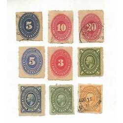 Kyпить  MEXICO  EARLY ERA  (5) NUMERICAL and (4) Regular mail / MIXED CONDITION LOT # 9 на еВаy.соm
