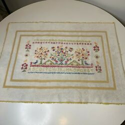 Kyпить vintage towel bathmat color white with beige girls tree print на еВаy.соm