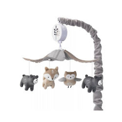 Kyпить New Lambs & Ivy Woodland Forest Gray/Tan Musical Baby Crib Mobile Soother Toy на еВаy.соm