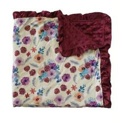 Kyпить Maroon And Floral Infant Baby Minky Blanket на еВаy.соm