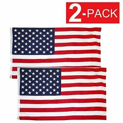 Kyпить 2x3 American Flag w/ Grommets USA United States of America US Flags 2 Pack на еВаy.соm