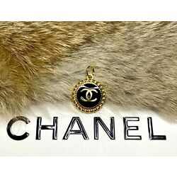 Kyпить Chanel Gold / Black CC Logo Button 20mm Metal Zipper Pull на еВаy.соm