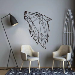 Nordic Style Wolf Art Geometric Vinyl Wall Stickers Bedroom Decor Wall Decal Wal
