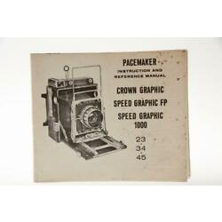 Kyпить Graflex Crown Graphic Spped Graphic Instruction Manual на еВаy.соm