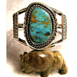Kyпить WIDE OLD PAWN ROYSTON TURQUOISE NAVAJO STERLING 925 SMALL SIZE CUFF BRACELET на еВаy.соm
