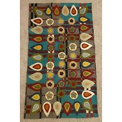 Kyпить Anthropologie Wool Penny Applique Rug 3x5 на еВаy.соm