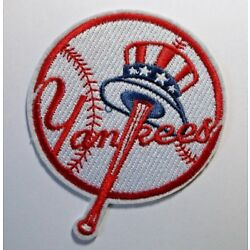 New York Yankees NY Embroidered PATCH~3 3/4'' x 3 1/4''~Iron On~MLB~FREE US Mail
